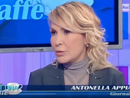 In studio Antonella Appiano - Rai Uno Mattina Caffe La Siria