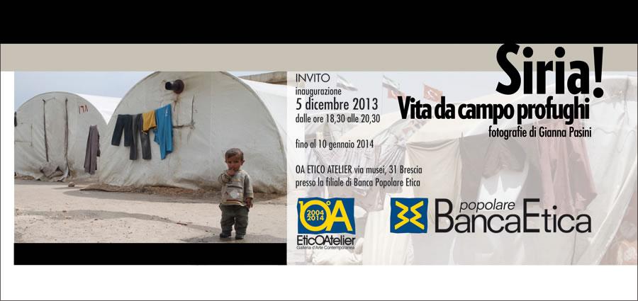 SIRIA! VITA DA CAMPO PROFUGHI - mostra fotografica - Brescia EticOAtelier