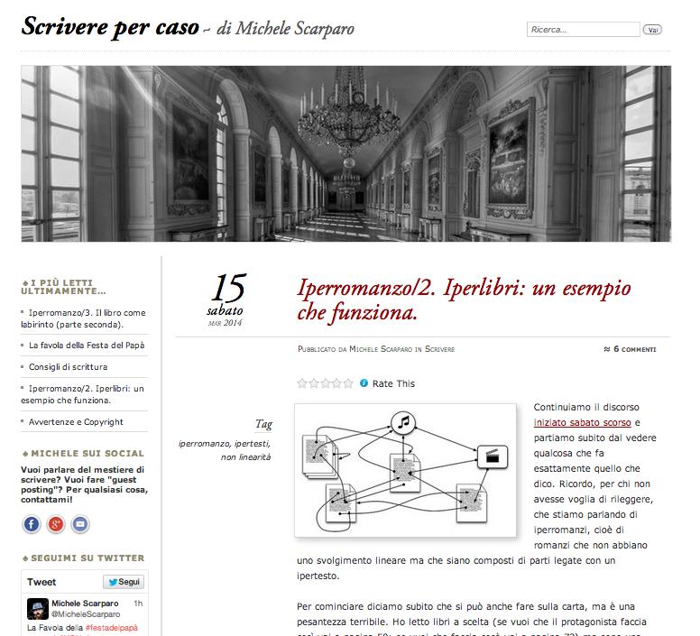 Scrivere per caso: iperlibri un esempio che funziona Michele Scarparo 14 marzo 2014