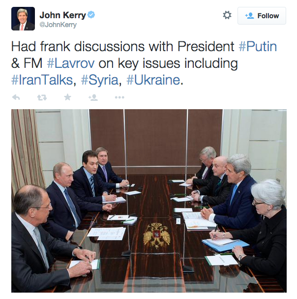 Kerry incontra Putin a Sochi - 2015